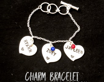 Bracelet | Cuztomized | Heart Bracelet | Personalized Handstamped Jewelry