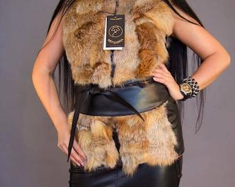 """Fox Fur Vest """"Jimena"""""""