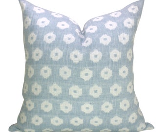 Timur Weave pillow cover in Sky - blue background