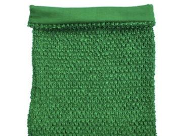 Green Tutu Top Crochet Tutu Top - 10 W x 12 H - Tube Tops, Dress Top, Tutu Supply