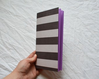 Handmade Travellers Notebook Insert: purple pages