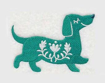 Swedish Dachshund Tea Towel | Dog Lover Gift | Embroidered Kitchen Towel | Personalized Kitchen | Embroidered Towel | Dog Tea Towel