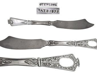 Antique Sterling Silver Master Butter Spreader Ca 1877.