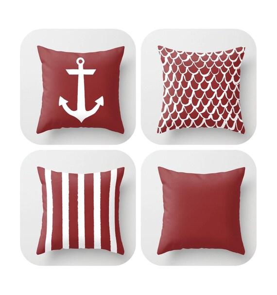 Caliente Throw Pillow . Mermaid Pillow . Anchor Pillow . Coastal Pillow . Striped Pillow . Caliente cushion . Throw Pillow 14 16 18 20 inch