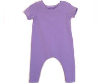 LILAC Romper- Short Sleeve | Short sleeve romper, harem romper, baby onesie, solid romper