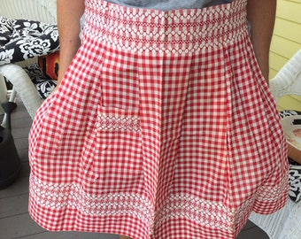 50's 60's Half Apron Never Used