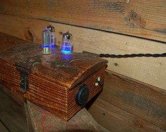 Antique box USB charger with vacuum tube Night Lights.