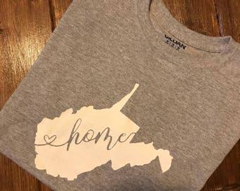 West Virginia Home Heart Tee