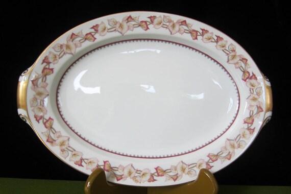 & Narumi Hartford Platter 12.5 Oval Vintage Occupied Japan