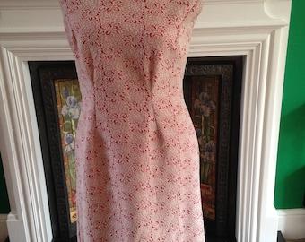 Vintage 60s shift dress, crimplene