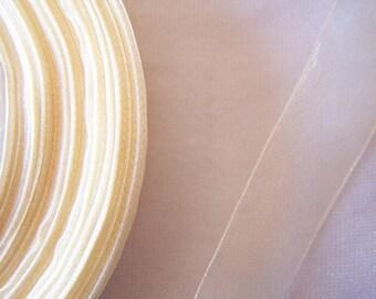 Organza Ribbon, ivory, width 20 mm (O-123)