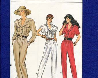 Vogue 9923 Safari Chic Military Mechanics Jumpsuit Size 6..8..10 UNCUT