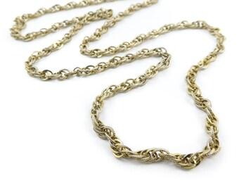 Vintage, Chain Link, Necklace, Gold Tone, STL82