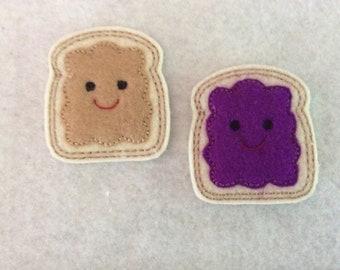 Peanut Butter and Jelly  felties  Always Precut