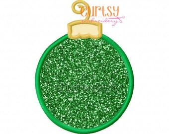 Christmas Ornament Applique Design, Christmas Embroidery Design, Christmas Applique Design