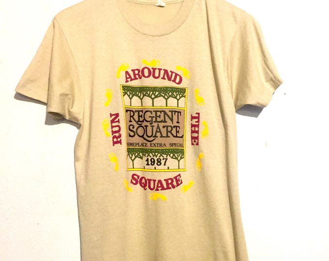 80s Vintage Regent Square Run Around The Square Tee