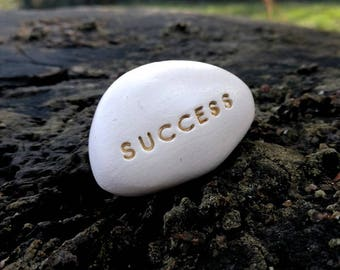 SUCCESS - Ceramic Message Pebble