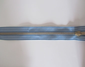 Special zipper Jeans - blue - 20 cm cotton and brass