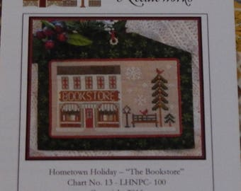 Hometown Holiday - The Bookstore by Little House Needleworks