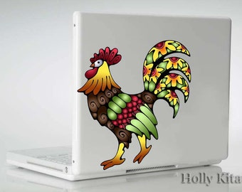 Rooster Decal Die Laser Cut Vinyl Decals  Sticker Country Colorful Farm Car Wall Window Art Color Chicken Golden Painting Animals Hen Small