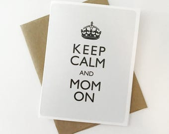8 Card Set / Mom Boss A2 Greeting Cards with Envelopes / Coffee, Hustle, Repeat / Like A Boss / Good Vibes / Keep Calm / Gifts For Her