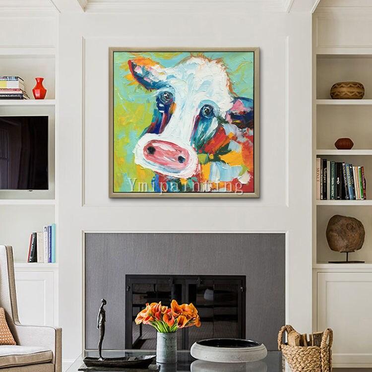 Kuh-Malerei auf Leinwand Kuh Kunst Leinwand Bauernhof Tier