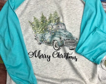 Christmas Vintage Truck with tree