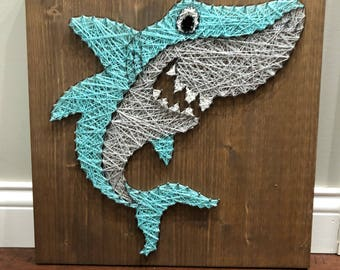 Shark string art