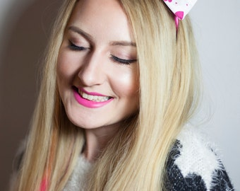 Romantic 'Be My Valentine' Headband Bow / Bow Tie - Limited Edition.