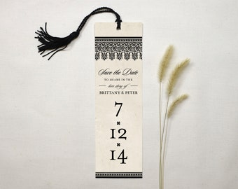 Love Story Save the Date Bookmark