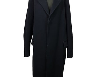 Vintage Mens Coat Size XXL Dark Blue Full Length Durable Formal Coat Durable Evening