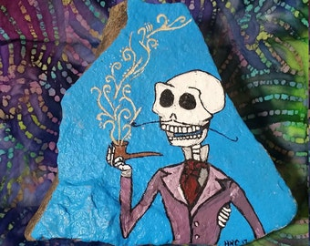 Alfred, Corpse Bride Painted Rock