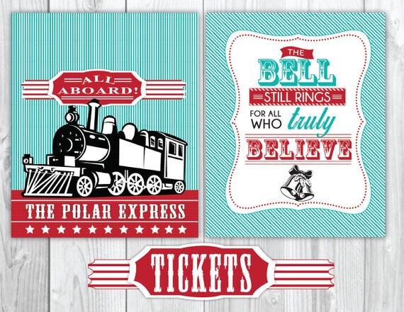 The Polar Express Signs - Christmas Polar Express Party