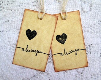 Always Tags, Wedding Tags, Heart Tags