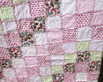 Butterfly rag quilt