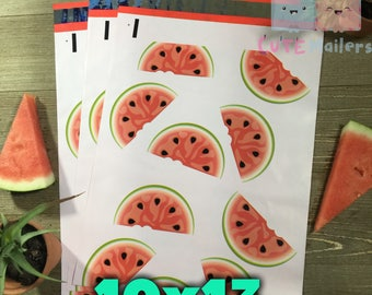 100 pcs watermelon 10x13 PolyMailers