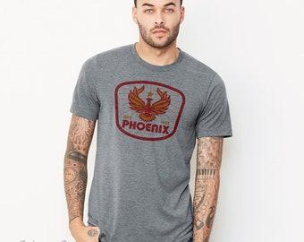 Red Hot Phoenix : Unisex Crew Neck T-Shirt