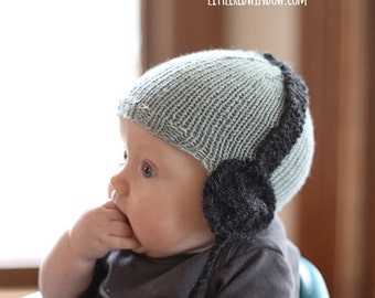 Baby Headphone Hat KNITTING PATTERN / Awesome Baby Gift / Musical Baby Gift / Rock Baby Gift / Knit Boy Hat Pattern / Baby Headphones