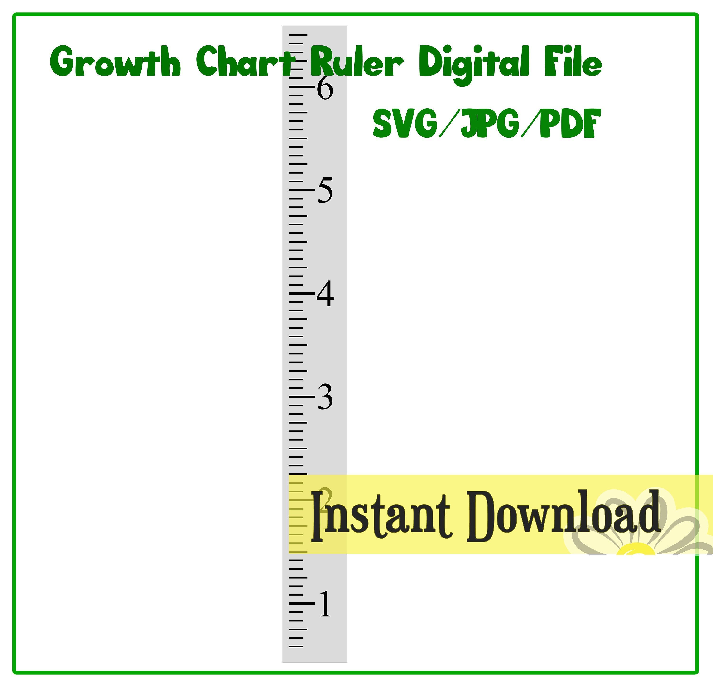 Growth chart ruler stencil file svgjpgpdf cut file zoom nvjuhfo Gallery