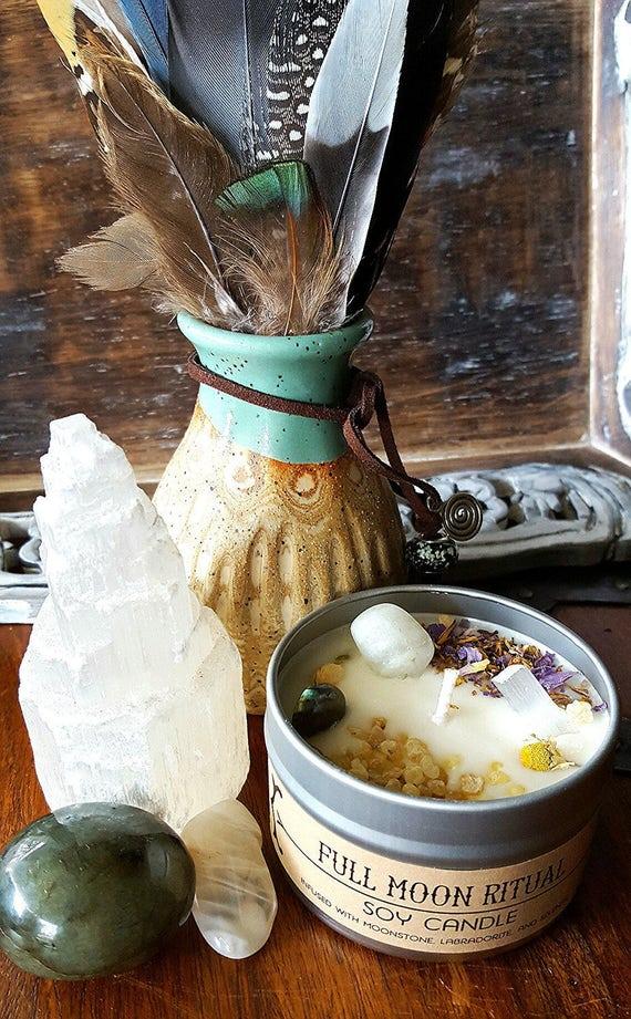 Full Moon Ritual Soy Candle