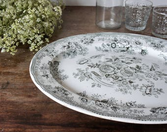 Large serving plate, Ironstone China