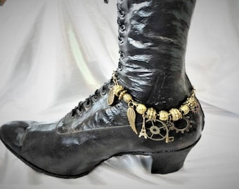 Steampunk Boot Jewelry  Bracelet Anklet #2
