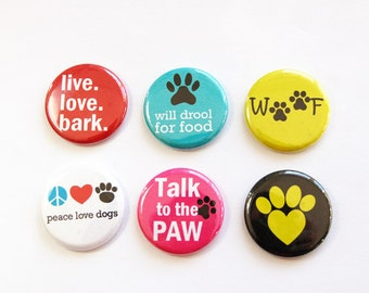 Dog Magnets, Button magnets, Kitchen Magnets, gift for dog lover, dog, dog Lover, humor, gift for dog owner, stocking stuffer (3261)