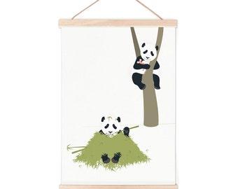 Poster - panda   children - nursery   50x70cm - 19,7 x 27,5 inches