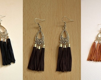 Silk Fringe Earrings