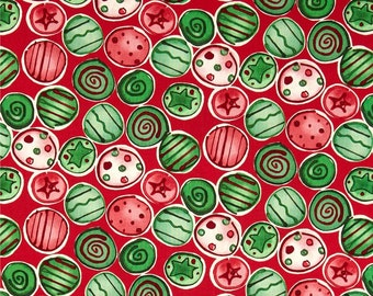 58031 - 1/2 yard of Kathy Davis Joyful holiday - Shiny  & bright in traditional  color
