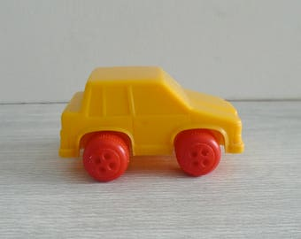 viking toys plastic car, vintage toy car, made in sweden, viking toys car, vintage plastic car, bright plastic car, volvo toy car, basic toy