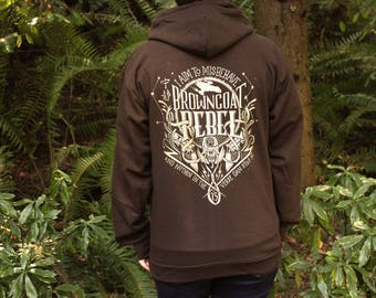 Firefly Hoodie | Serenity  Hooded Sweatshirt | Browncoat Rebel | Hand Screen Printed | Gold Ink | Available In Plus Sizes
