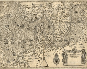 Poster, Many Sizes Available; Map Of Northern Europe, 1558 Denmark Holland