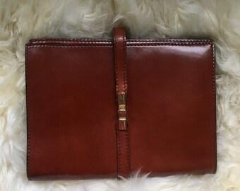 Vintage Italian Leather Clutch // Vintage Leather Clutch // Made in Italy // Brown Clutch // Italian Purse